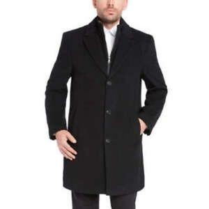KIrkland Wool Cashmere Overcoat Removable Bib